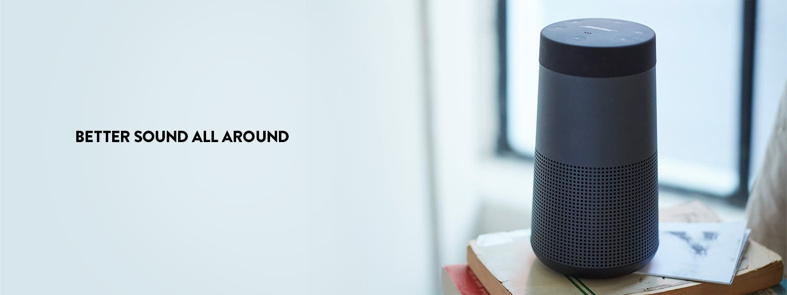 Better sound all around: Bose SoundLink Revolve Bluetooth speaker.