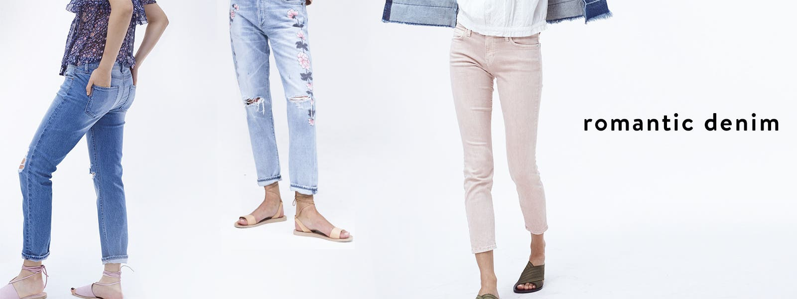 Romantic denim trends for women.