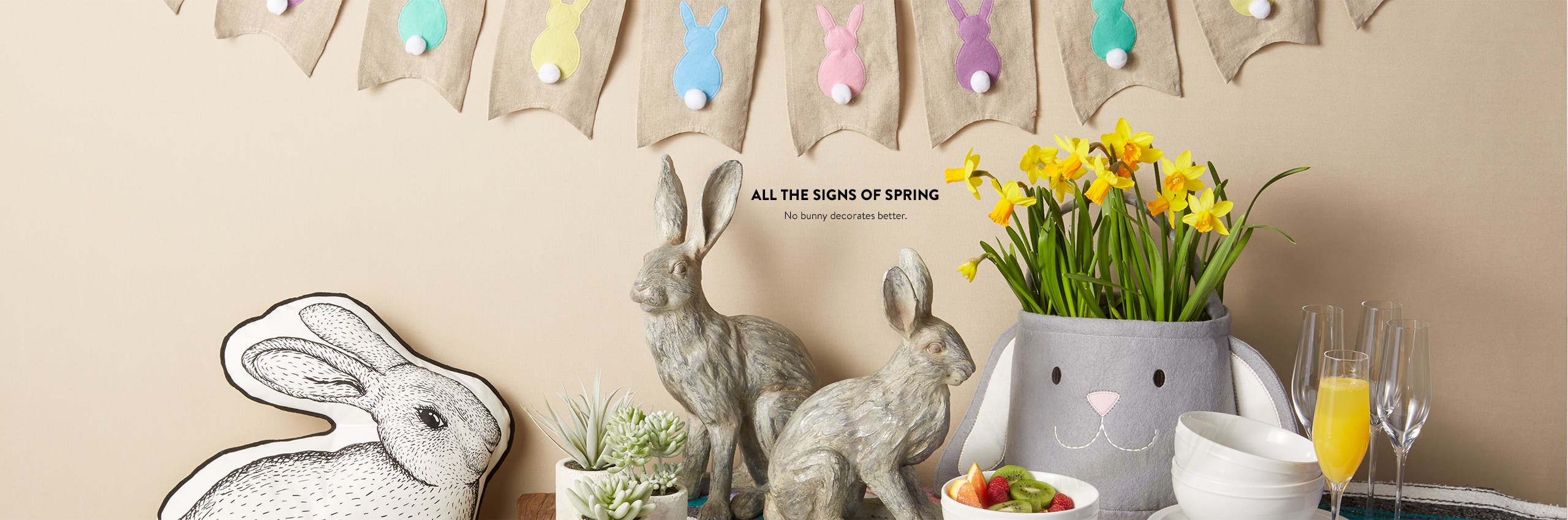 Bunny decorations for spring.