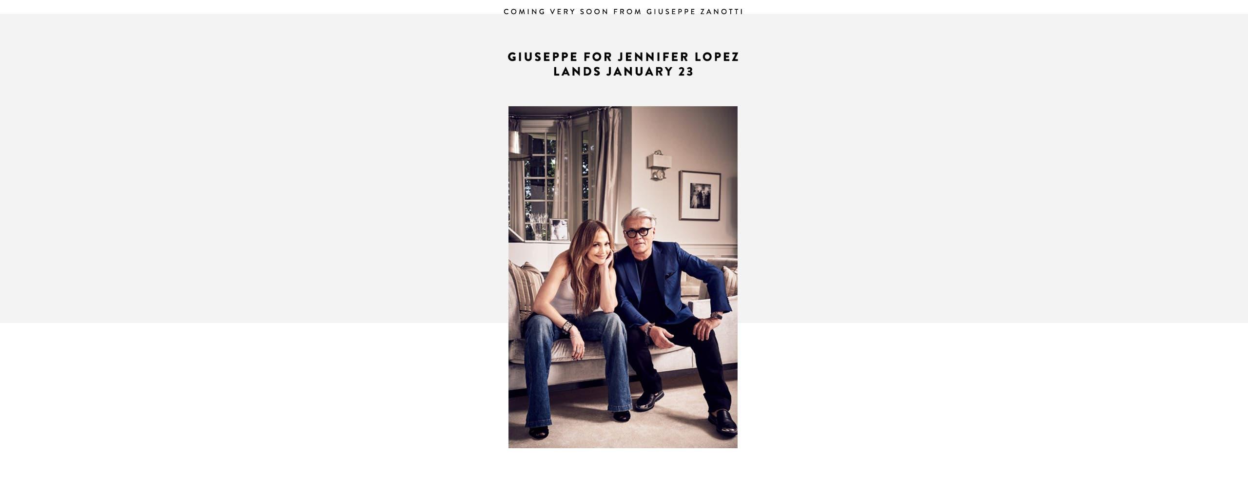 Coming soon: Giuseppe Zanotti x Jennifer Lopez shoe collection.