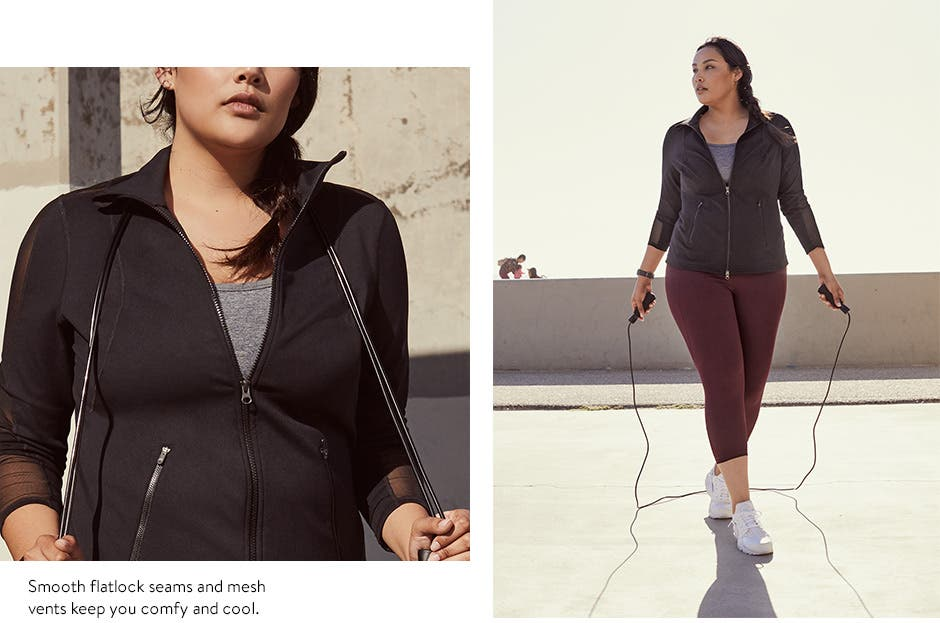 Gym time with Zella activewear, also in plus sizes.