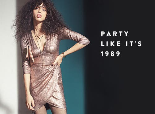 Party like it's 1989 with night-out clothing and more.