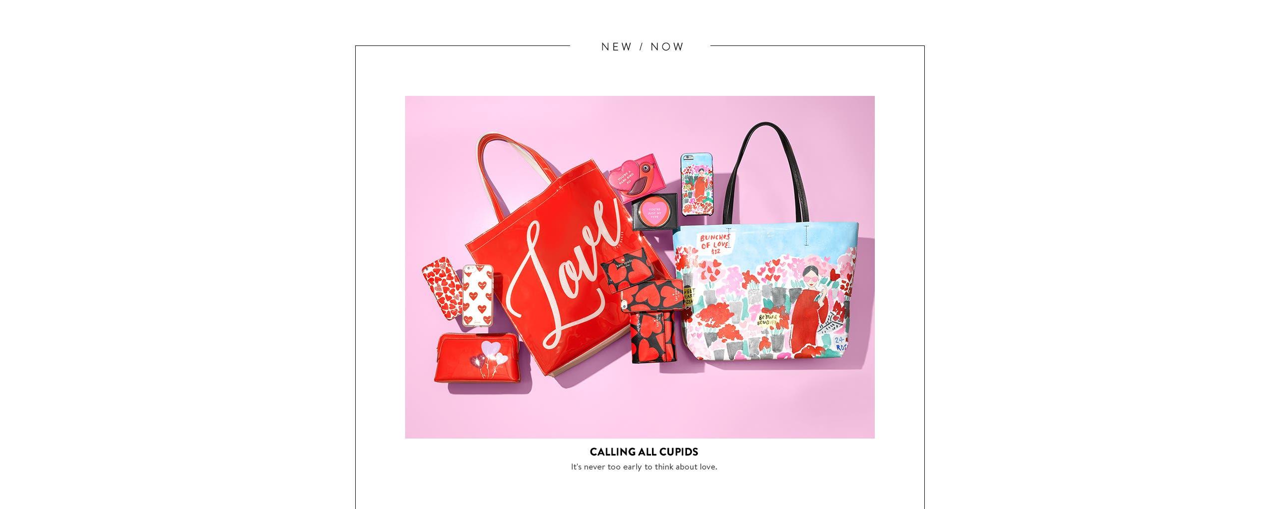Calling all cupids: handbag and tech gifts.
