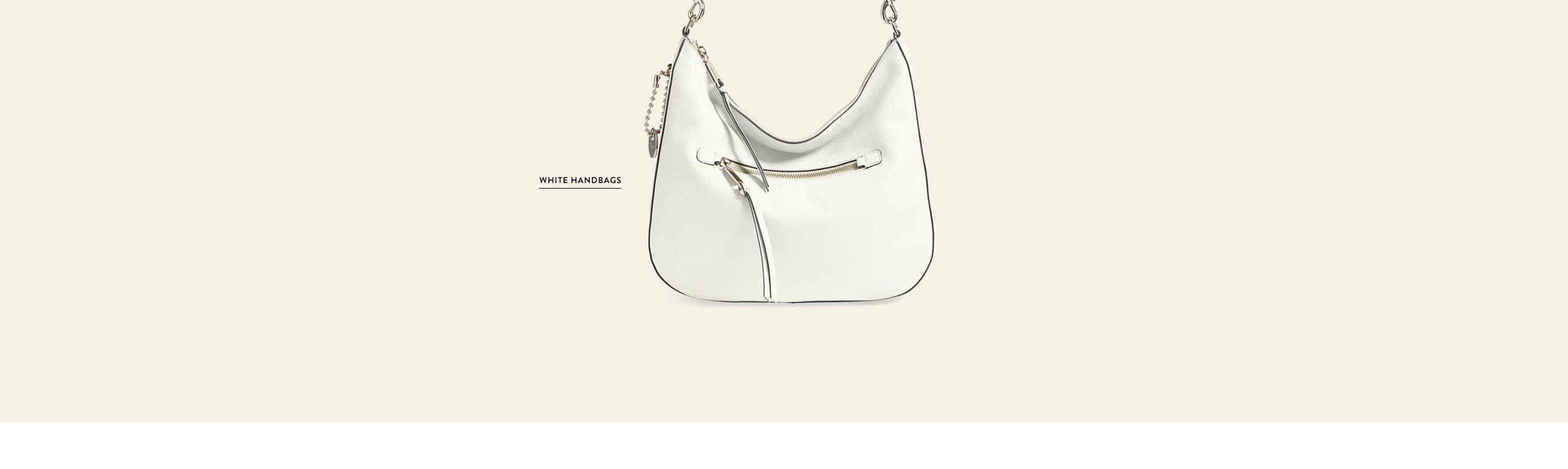 White handbags.