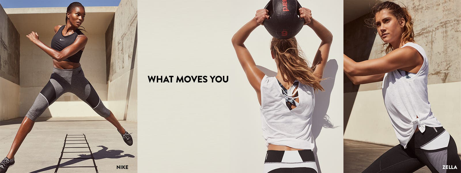 What moves you: women's activewear.