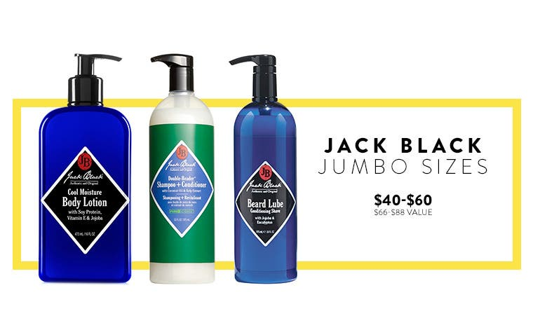 Jumbo-sized cologne and skin care from your favorite brands.