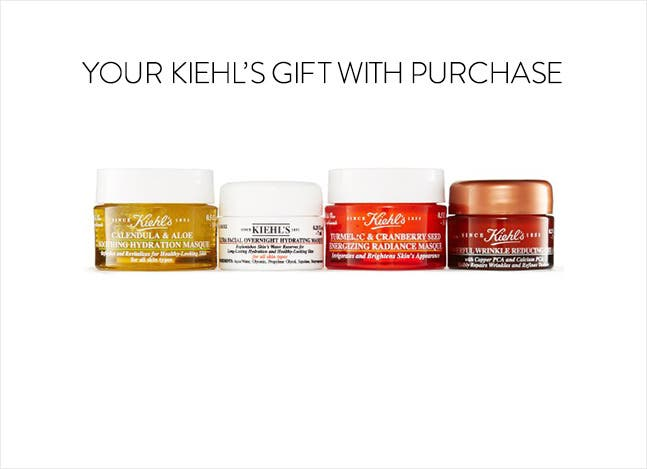 Your Kiehl's gift with purchase.