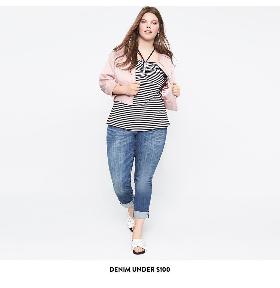 Plus-size jeans under $100.