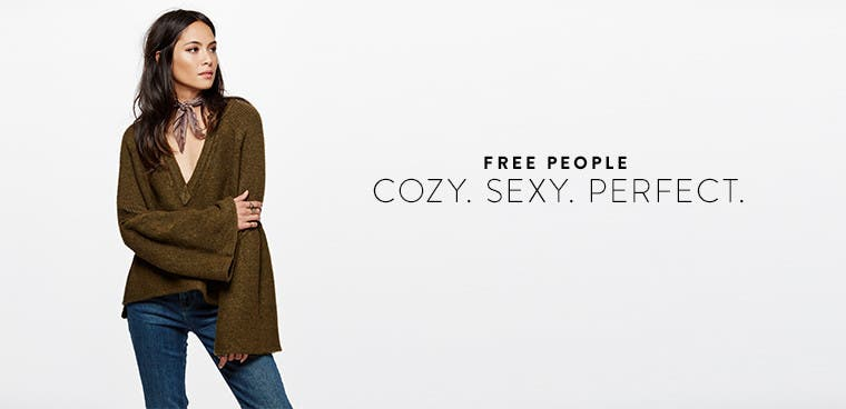 Free People for fall: cozy, sexy, perfect.