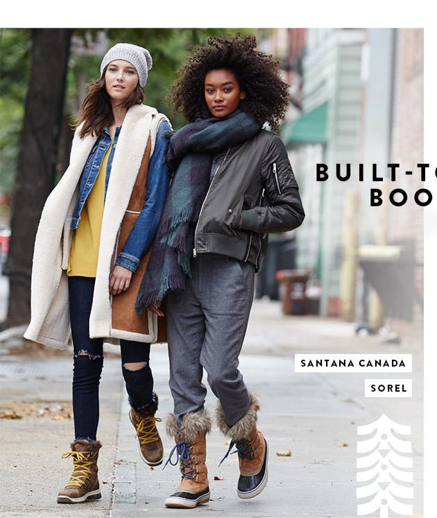 Built-tough boots from Santana Canada and SOREL.