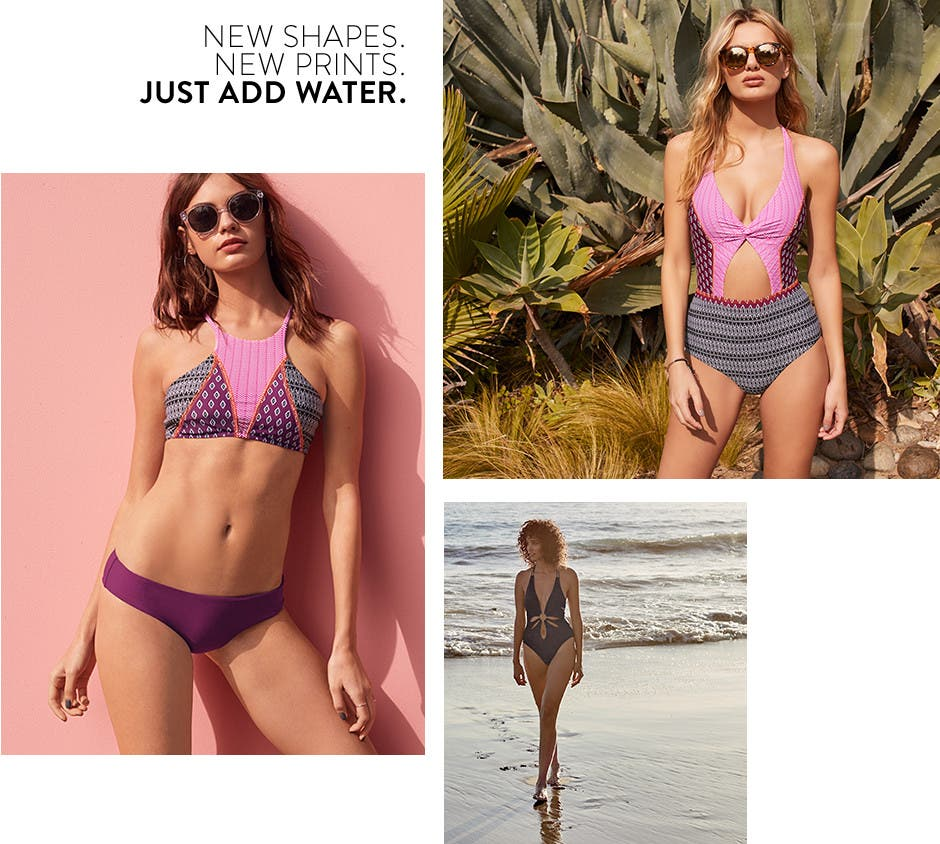 New shapes. New prints. Just add water.