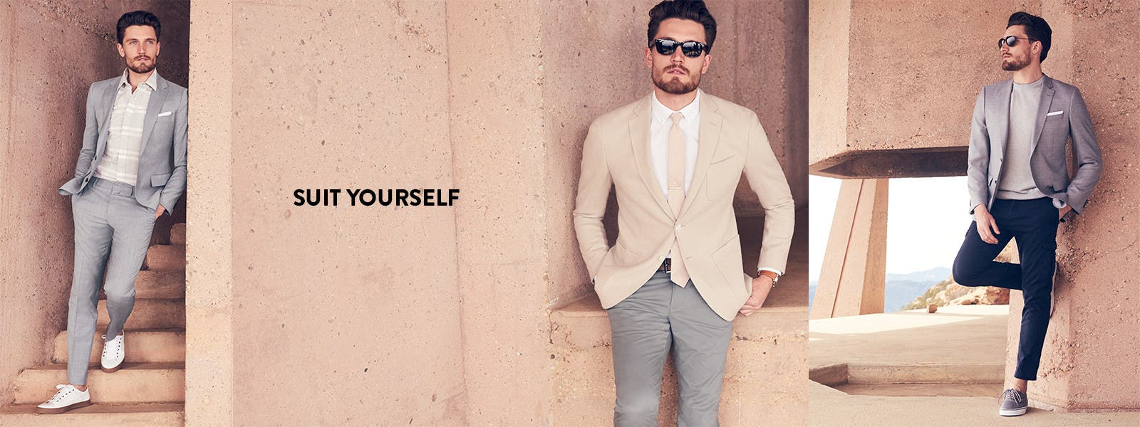 Suit yourself: suits and separates for men.