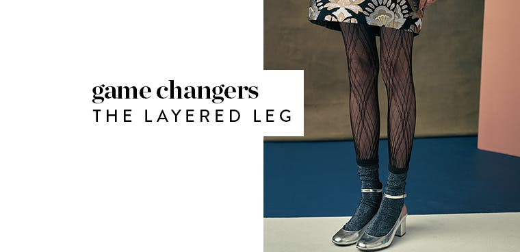 The layered leg: wearing women's tights under socks.