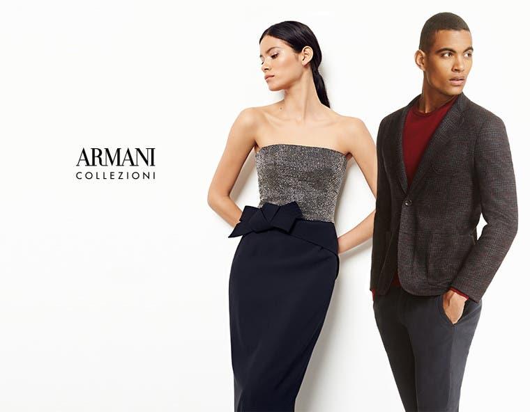 Armani Collezioni for women and men.