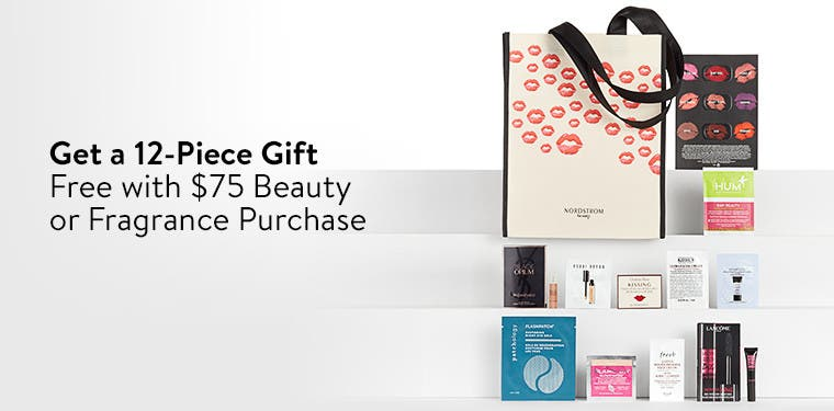 Free 12-piece gift with purchase.