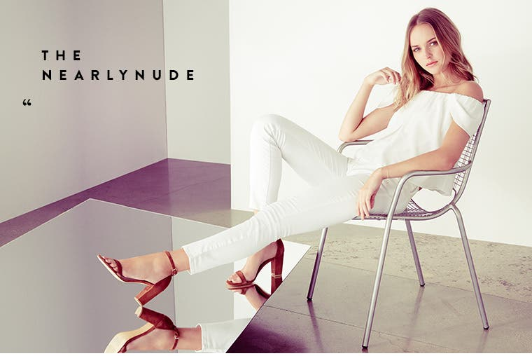 The Nearlynude sandal.
