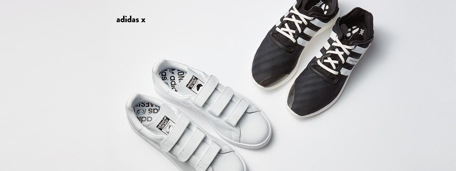Adidas collaborates with Raf Simons and Yohji Yamamoto.