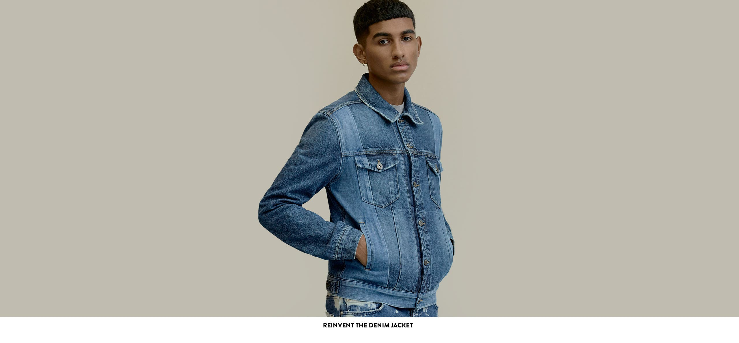 Reinvent the denim jacket.