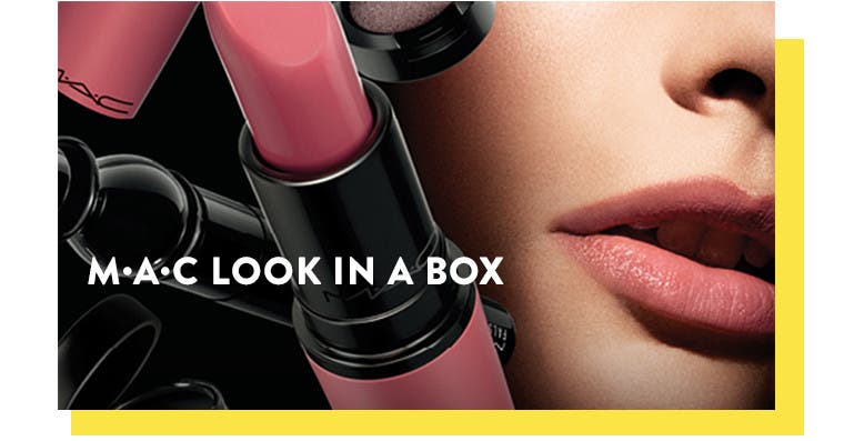 Beauty exclusives: M·A·C Look In A Box makeup kits.