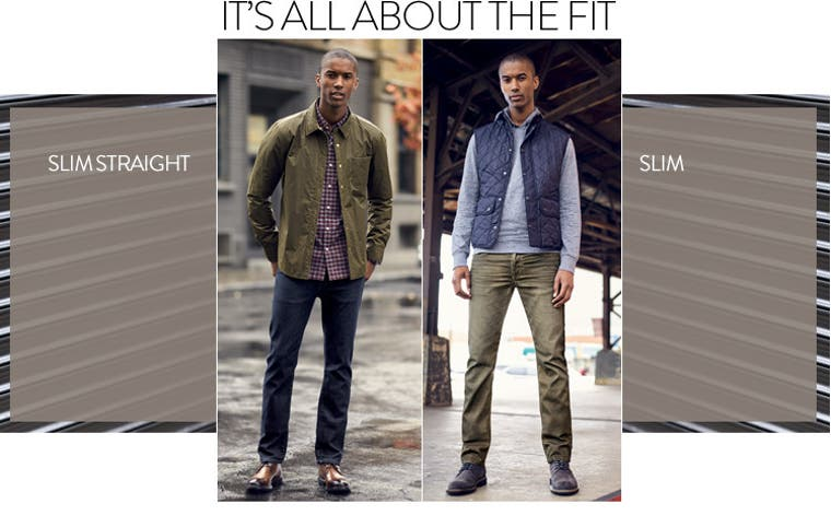 Men's jeans: it's all about the fit.