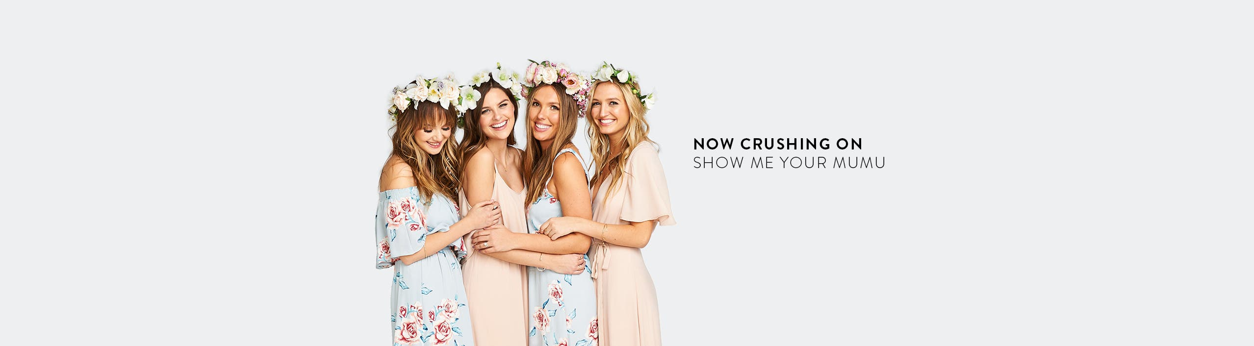 Now crushing on Show Me Your Mumu bridesmaid dresses.