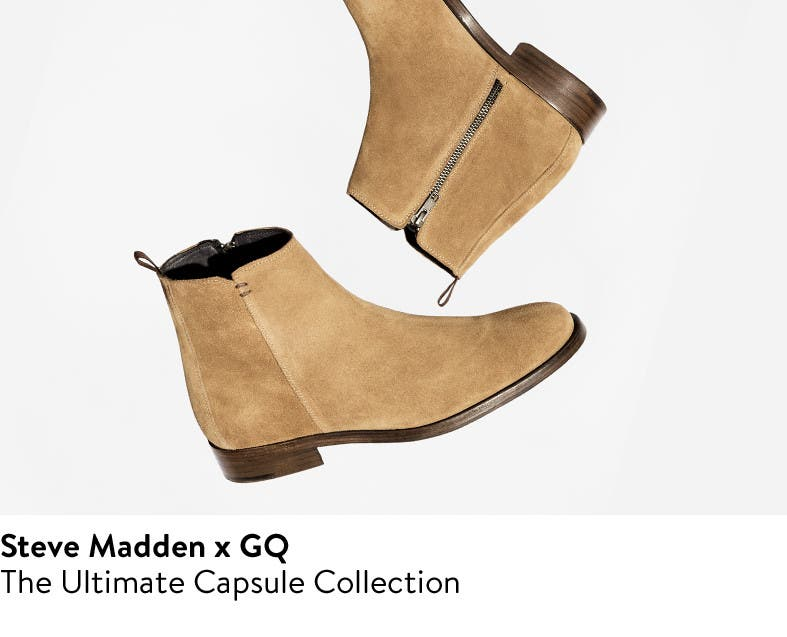 GQ and Steve Madden: the ultimate men's shoes capsule collection.
