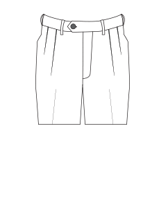 Double-pleated trouser illustration.