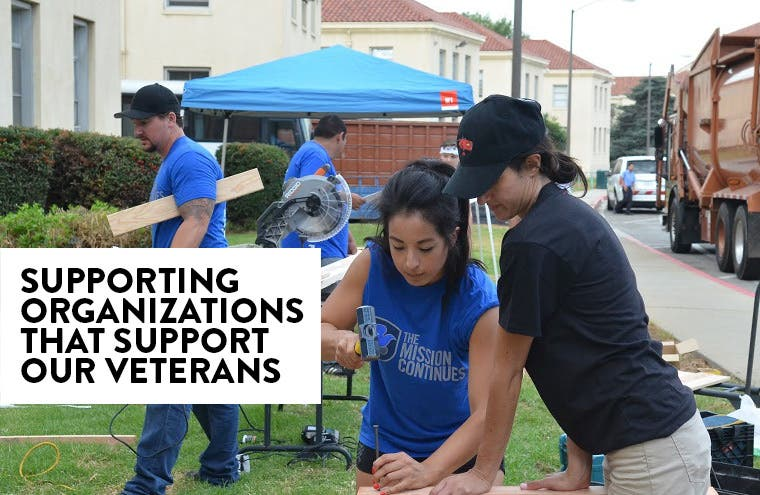A look into our partnership with The Mission Continues and the Wounded Warrior Project.