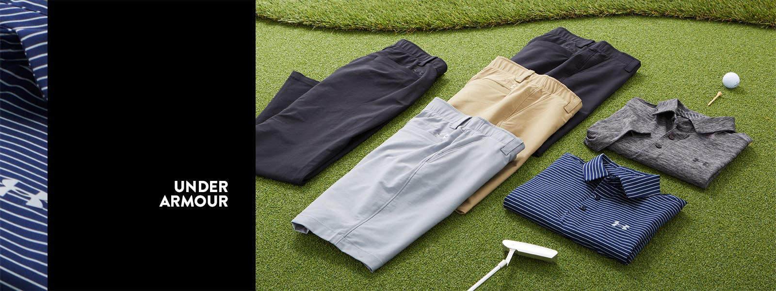 Under Armour golf apparel.