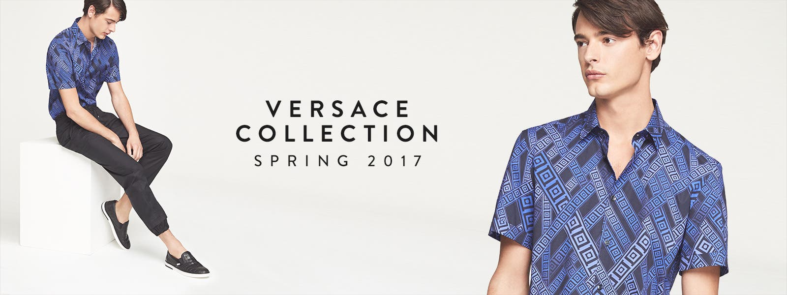Spring 2017 men's designer collections: Versace Collection.
