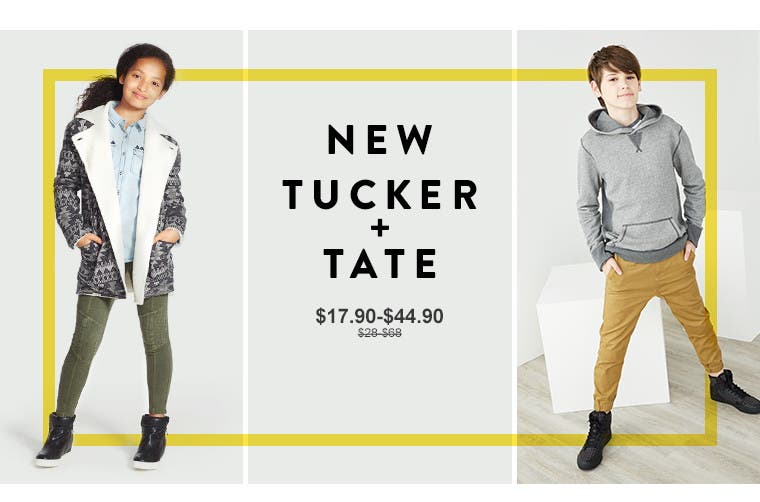 Anniversary Sale: new Tucker + Tate for kids.