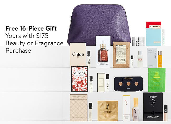 Free 16-Piece gift with purchase.
