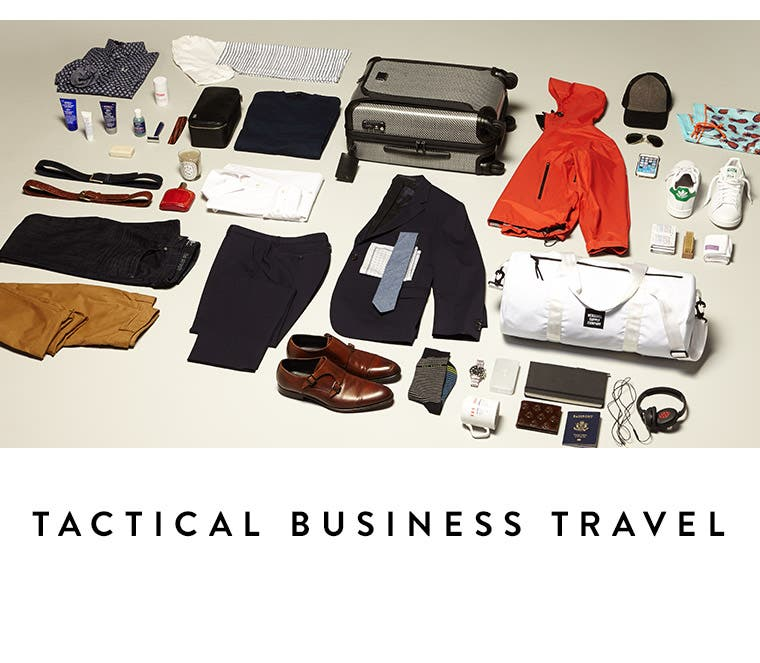 Video: Tactical business travel. Men's video on how to pack for a business trip.