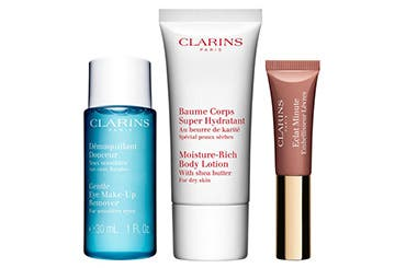 Receive a free 3-piece bonus gift with your $80 Clarins purchase