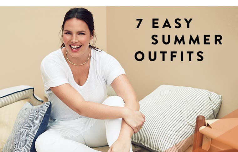 Seven easy plus-size summer outfits.