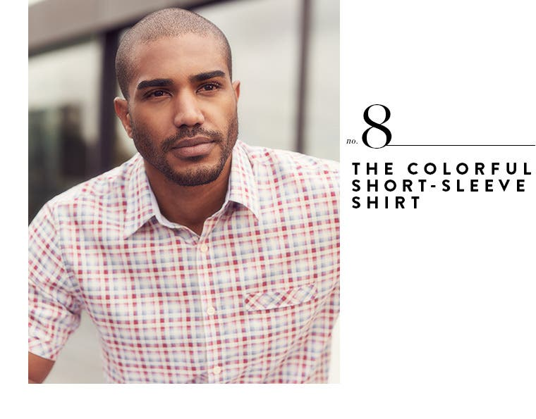 8: the colorful short-sleeve shirt.