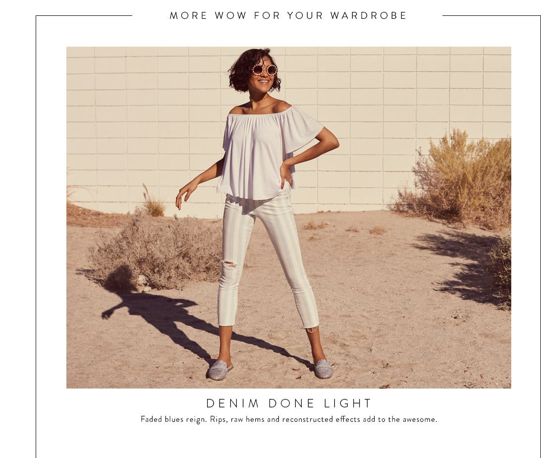 Denim done light. Women's light-wash jeans.