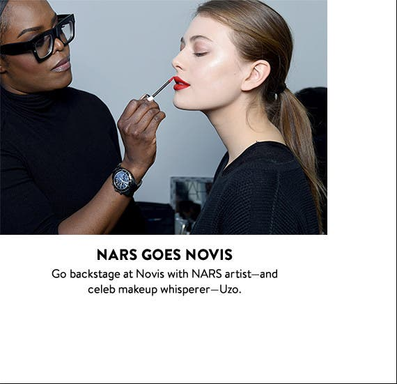 New York Fashion Week backstage: NARS at Novis.