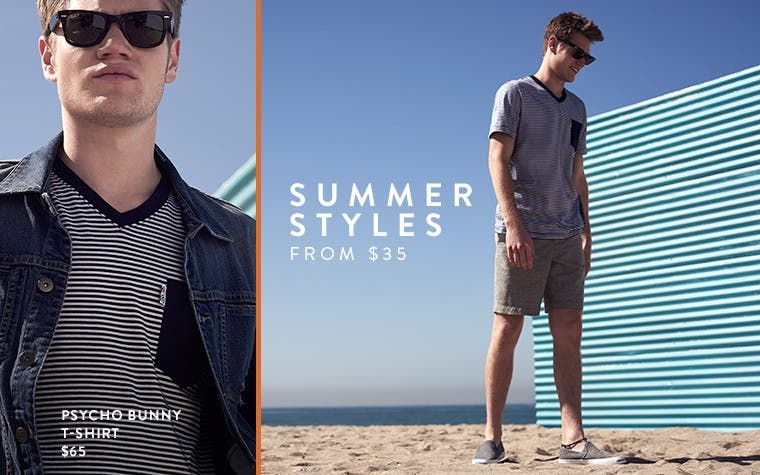 Men's summer styles.