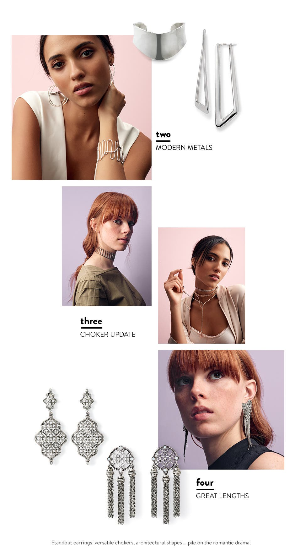 Modern metals: jewelry for spring.