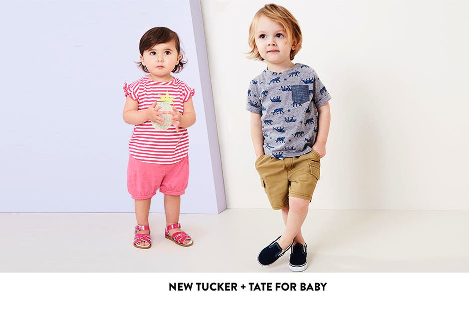New Tucker + Tate clothing for baby girls and baby boys.