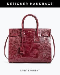Designer handbags: Saint Laurent tote.