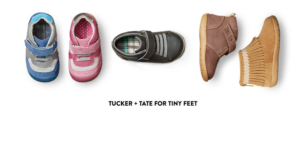 Tucker + Tate kids' shoes for tiny feet.