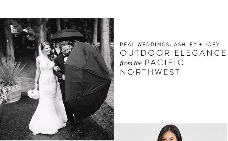Real wedding inspiration. Ashley and Joey: outdoor elegance from the Pacific Northwest.