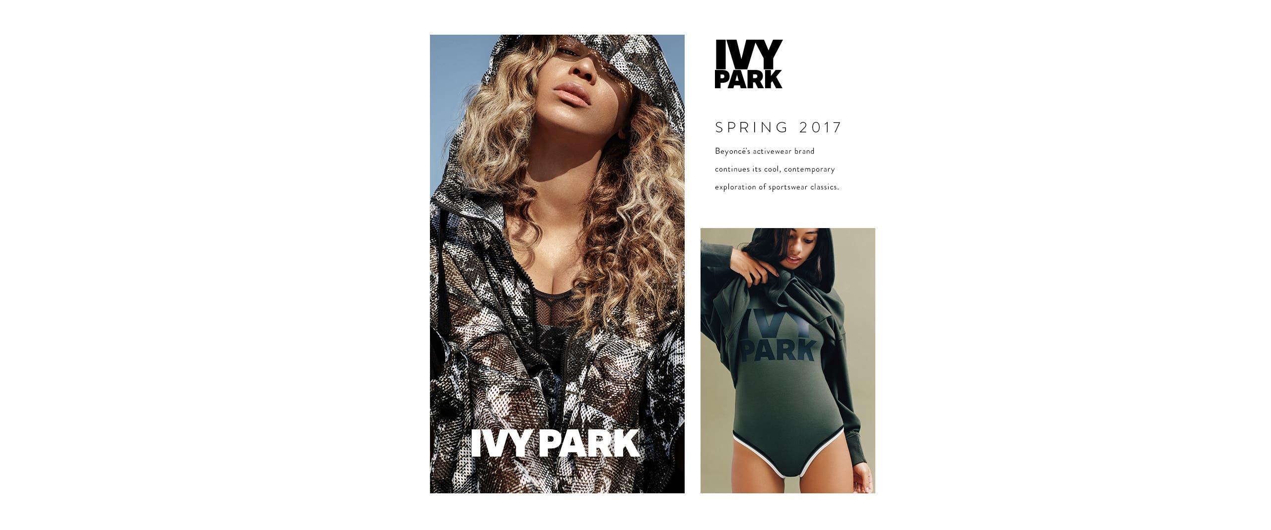 Spring 2017: IVY PARK women's activewear.