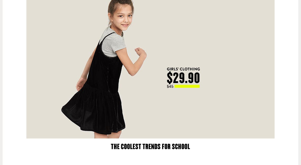 The coolest girls' clothing trends for school.