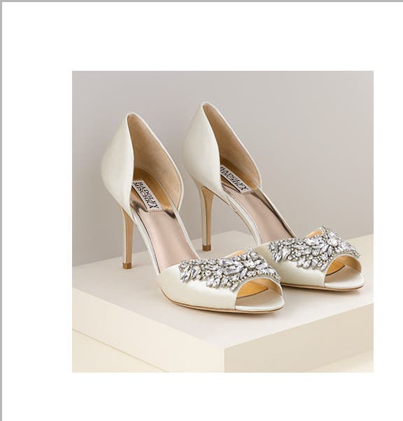 Shiny, silky, twinkly things: wedding shoes, bridal lingerie and jewelry.