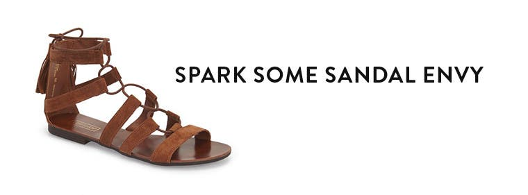 Spark some sandal envy with Topshop shoes.