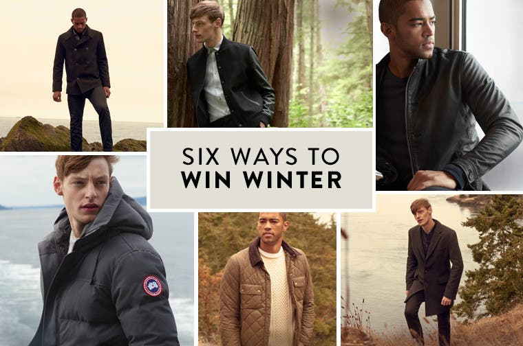 Winter coats for men.