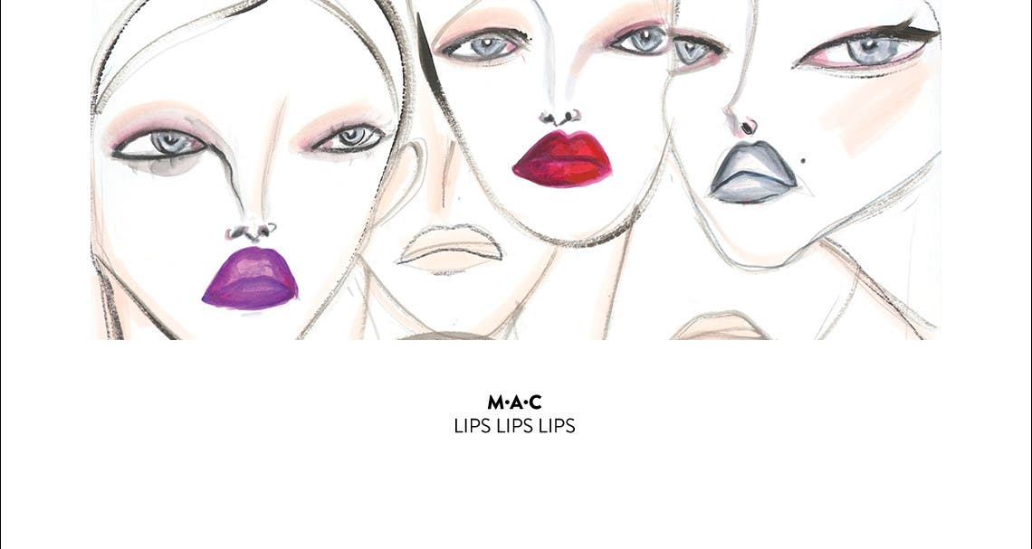 M·A·C lips lips lips: explore your trend.